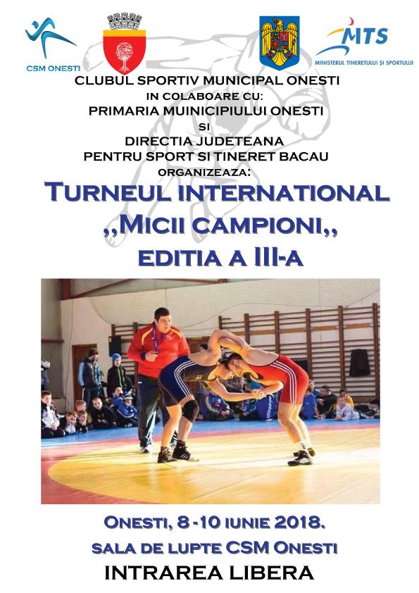 """Turneul International """"Micii Campioni"""" – Editia a III-a, Onesti 8-10 Iunie 2018"""