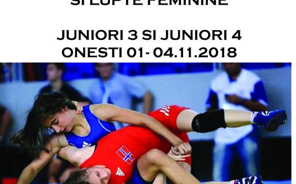 Campionatul national individual de lupte libere, lupte greco romana si lupte feminine – juniori 3 si juniori 4 – Onesti 01-04.11.2018