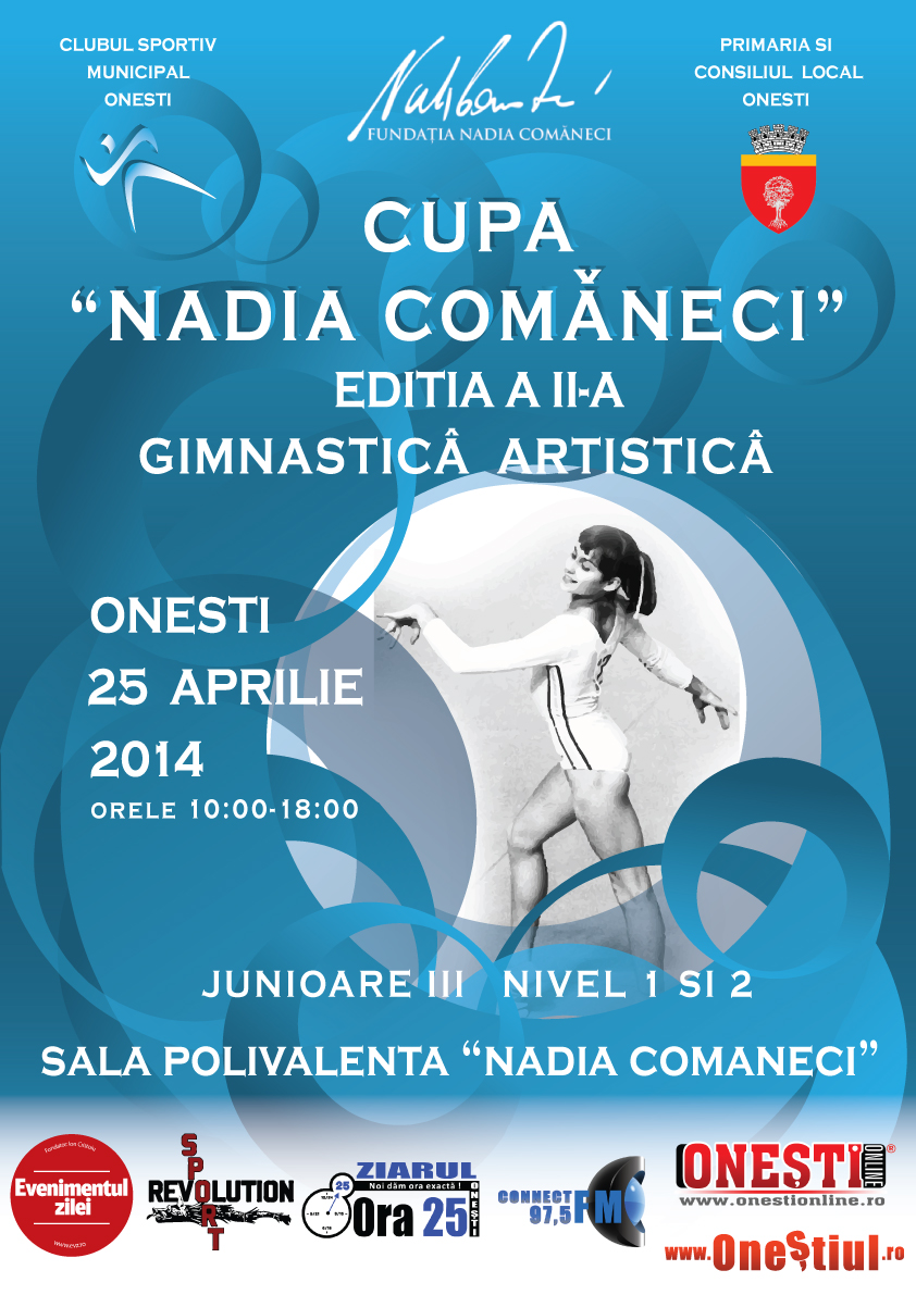 """CUPA """"NADIA COMANECI"""" EDITIA A II-A LA GIMNASTICA ARTISTICA"""
