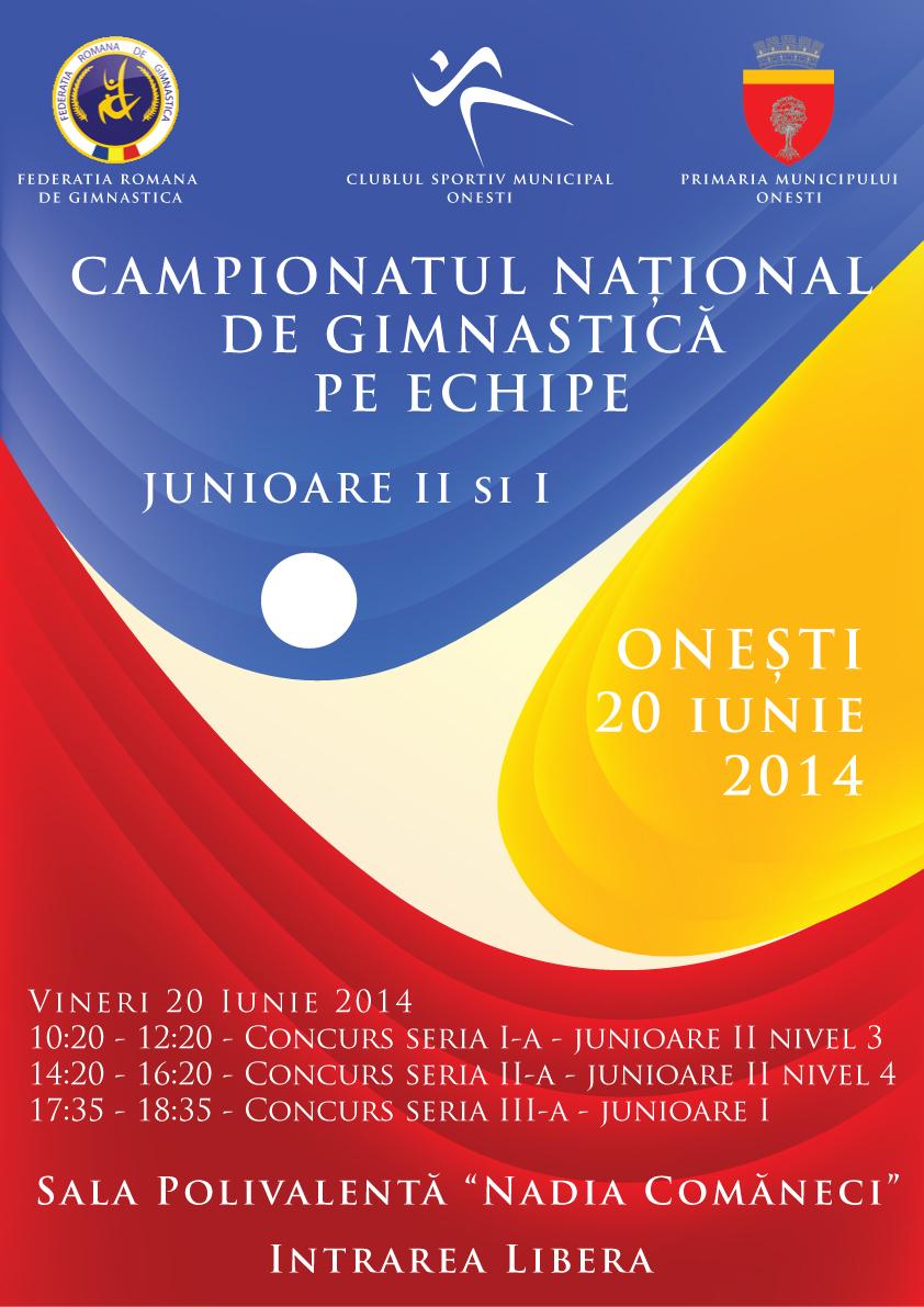 CAMPIONATUL NATIONAL PE ECHIPE AL JUNIOARELOR II SI I ONESTI, 20 IUNIE 2014