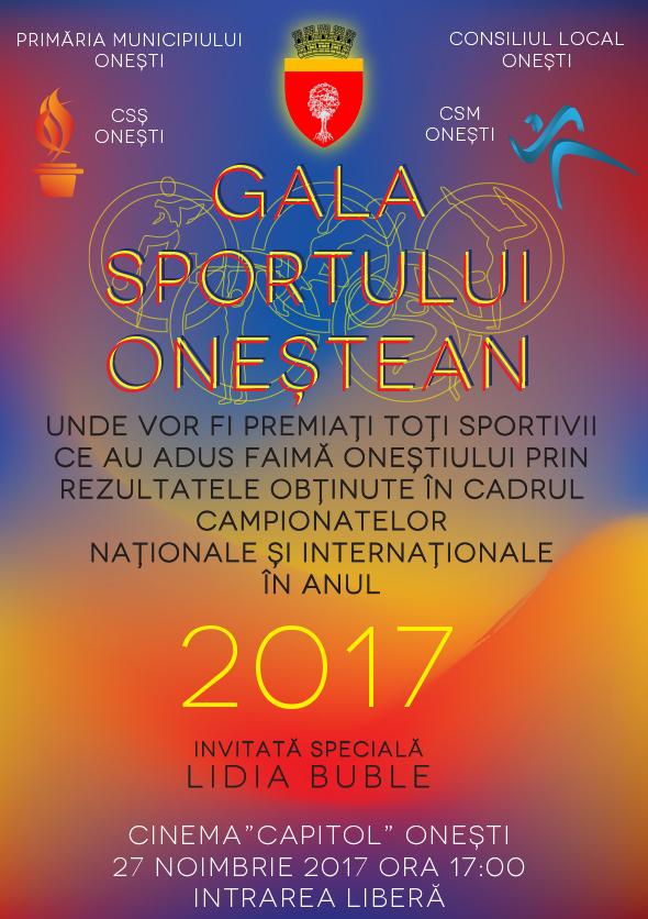 Gala Sportului Onestean – 27 Noiembrie 2017
